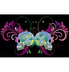 skull on a grunge background vector image