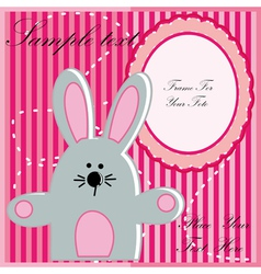 Baby postcard with rabbit vector image vector image