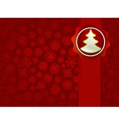 Christmas applique with tree background EPS8 vector image vector image