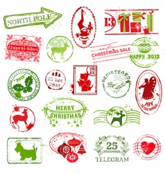 Christmas Stamp Collection vector image vector image