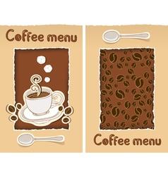 coffee cut vector image vector image