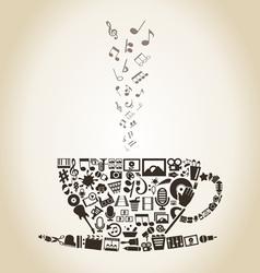 Cup art vector image vector image