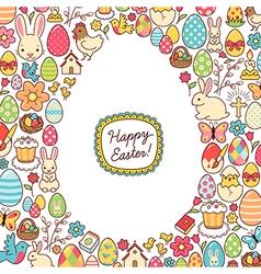 Easter egg mosaic vector image
