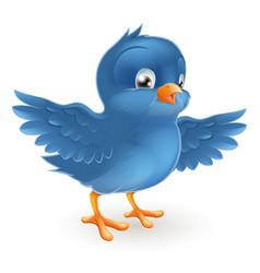 happy bluebird vector image vector image