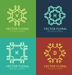 Line frames design elements vector image vector image