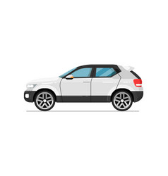modern suv car isolated icon vector image vector image