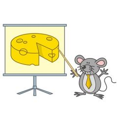 mouse businessman vector image vector image