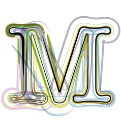 Organic font letter m vector