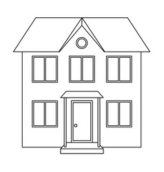 private cottagerealtor single icon in outline vector image