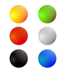 set of colorful spheres isolated vector image vector image