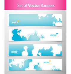abstract web headers vector image vector image