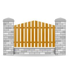 brick fence vector image vector image