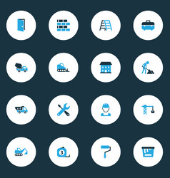 construction colorful icons set collection of tip vector image vector image