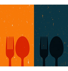 Cutlery on abstract background vector image vector image