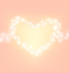 heart abstrack sparkling frame orange pink backgro vector image vector image