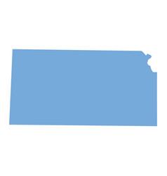 kansas state map vector image