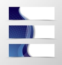 Set of banner grid design vector image vector image