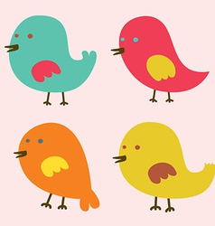 Set of Lovely Birds vector image vector image