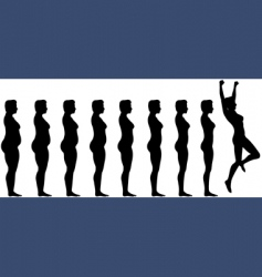 weight loss success vector image