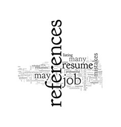 A resume reference guide vector