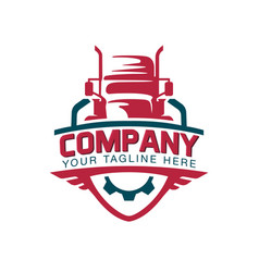 a template truck logo cargo delivery logistic vector image