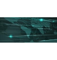Abstract World Map Technology Background vector