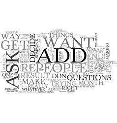 adult add who do you trust text word cloud concept vector image