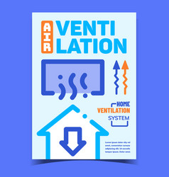 Air ventilation creative advertising banner vector