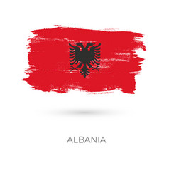 Albania colorful brush strokes painted national vector