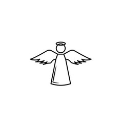 angel line icon vector image
