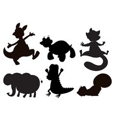 Animals in brown black and gray colors vector image