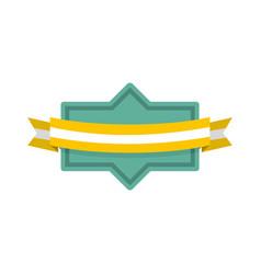 badge ribbon icon flat style vector image