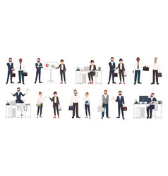 Big collection of business people or office vector