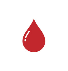 blood drop icon on a white background vector image