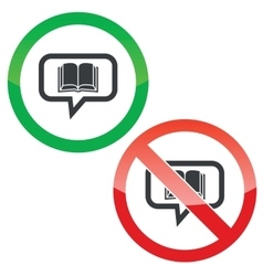 Book message permission signs vector