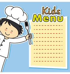 boy chef card vector image