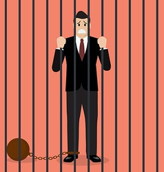 Businessman with weight in prison vector