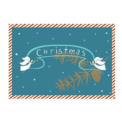 Christmas postcard vector