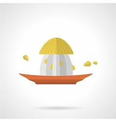 Citrus juicer flat color icon vector