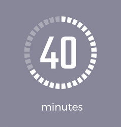 Closeup of digital timer on vector