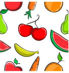Collection of fruit fresh pattern vector