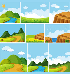 different scenes of nature vector image