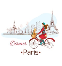 Discover Paris poster vector image