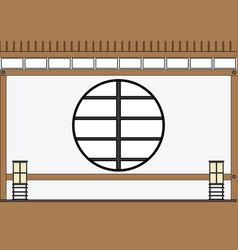 Empty japanese living room in zen style vector