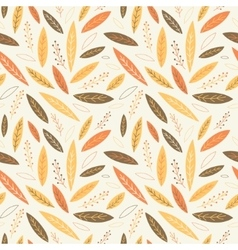Falling autumn leaves seamless pattern vector image