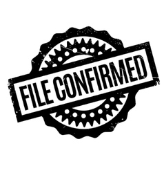 File Confirmed rubber stamp vector