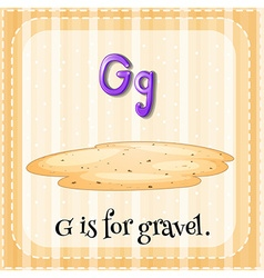 Flashcard alphabet G is for gravel vector