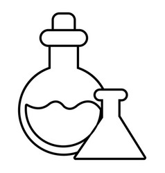 flask icon outline line style vector image
