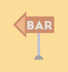 Flat icon on background poker bar sign vector