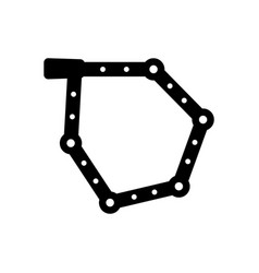 Folding bicycle lock vector